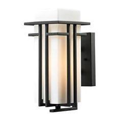 Elk Lighting 45085/1 Croftwell 1 Light Outdoor Sconce In Textured Matte Black