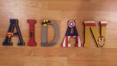 7 Superhero inspired wall letters by DesignsByDonnaLynn on Etsy, $10.00