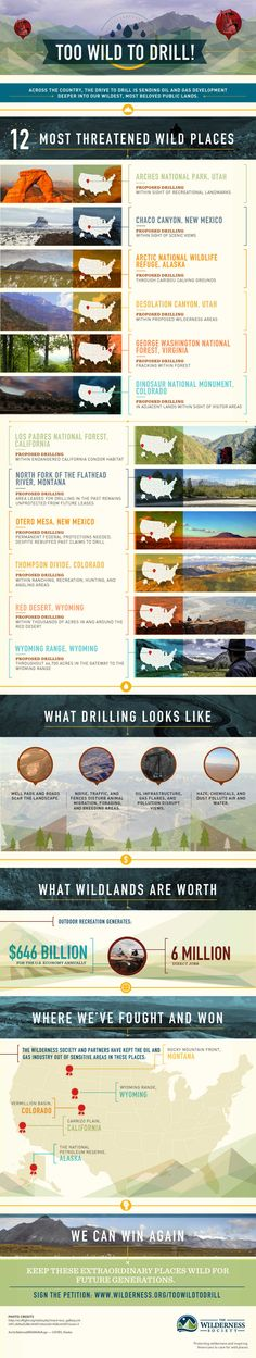Infographic: These 12 places are Too Wild to Drill | Wilderness.org