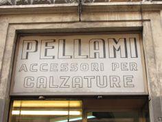 Pellami, accessori per calzature. Via Urbana, Roma.
