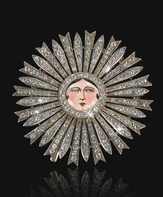 A Qajar diamond and enamel 'Neshane Astrab' (Order of the Sun), Persia, circa 1915-16