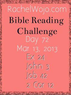 Bible Reading Challenge Day 72 #bibleinayear