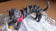 Плетение из газет Кошка