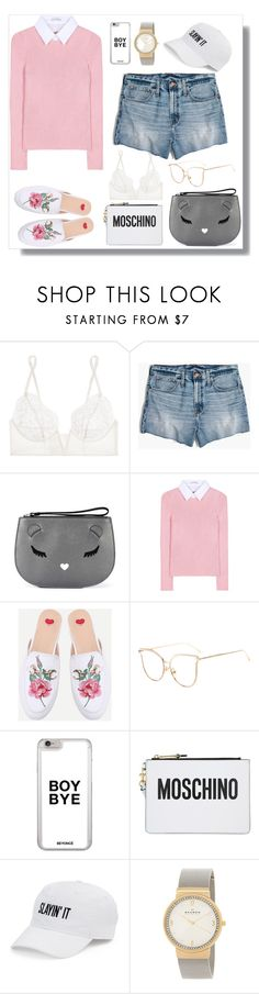"""""""Wish I had little boobs for this La Perla lingerie 😍"""" by sole-rack ❤ liked on Polyvore featuring La Perla, Madewell, Furla, Altuzarra, WithChic, Moschino, SO and Skagen"""