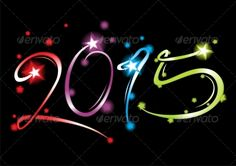 New Year 2015 by oxygen64 Vector illustration EPS 8 (fully editable in software for editing vector graphic)   high resolution RGB Jpeg image.