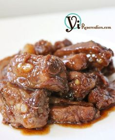 Sweet and Sour Spareribs (糖醋排骨) - Amazing Foods Menu Recipes Pork Rib Recipes, Meat Recipes, Asian Recipes, Cooking Recipes, Cooking Tips, Smoker Recipes, Filipino Pork Ribs Recipe, Indonesian Recipes, Orange Recipes
