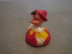 Vintage Marx Toy Disney Pinnochio Roller Toy Game Piece ? Miniature Figure Toy