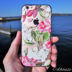 MADE IN JAPAN Soft Clear TPU Case Peach blossom flowers for iPhone 6 & iPhone 6s