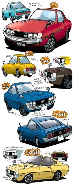 Toyota Celica - 初代セリカディテールの変遷!なんちて