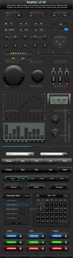 Technology Interface Computer Data Screen GUI - Stock ...
