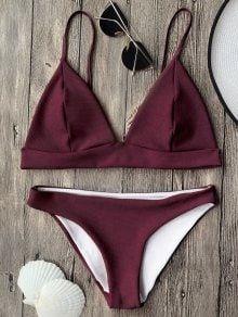2pc 2019 Bralette Criss Cross Swimsuit Bikini Bathing Suit Padded Swimwear S-L