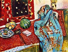 Still LIfe with Red Carpet (also known as Oriental Rugs) / Henri Matisse - 1906