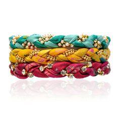 vintage sari bracelets