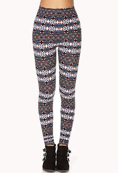 Day Trip Tribal Print Leggings | FOREVER 21 - 2000072569