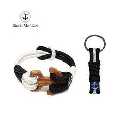 White Wood, Black And White, Nautical Bracelet, Nautical Fashion, Handmade Bracelets, Personalized Items, Elegant, Knot, Jewelry