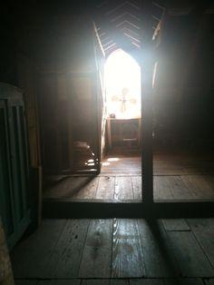 Mysterious shot inside the old attic of Oak Alley Plantation in Vacherie, La