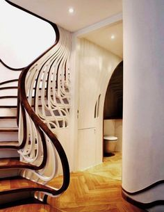 Art nouveau stairway.