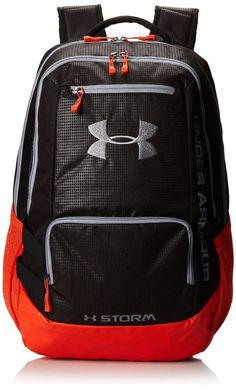 Under Armour Hustle Storm Backpack Book Bag Rugged BACK TO SCHOOL FREE SHIPPING #UnderArmour #Bookbag