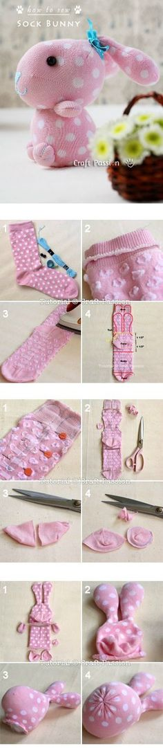 Sock Bunny Craft Tutorial diy