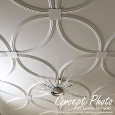 Ekena Millwork Traditional x Quarter Polyurethane Ceiling Ring at Lowe's. Ceiling rings are often used in conjunction with ceiling medallions in highlighting focal points like chandeliers and ceiling fans. However, ceiling rings Ceiling Trim, Home Ceiling, Bedroom Ceiling, Ceiling Tiles, Ceiling Decor, Ceiling Beams, Plafond Staff, Master Suite, Master Bedroom