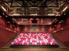 The Bridge Art Centre by Gareth Hoskins Architects, United Kingdom Auditorium Architecture, United Kingdom, Interior Design, Bridge, Architects, Buildings, Electric, Cinema, Home Decor