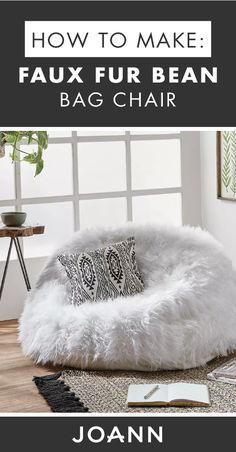 Create a cozy corner or reading nook with the help of this DIY Faux Fur Bean Bag. Create a cozy corner or reading nook with the help of this DIY Faux Fur Bean Bag from JOANN! Living Room Flooring, Living Room Chairs, Living Room Furniture, Rustic Furniture, Painted Furniture, Bean Bag Living Room, Cozy Living Rooms, Cozy Reading Corners, Cozy Corner