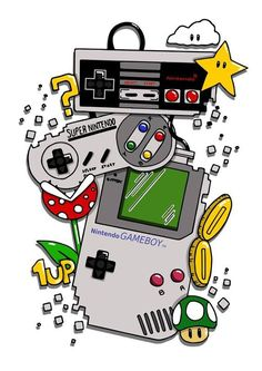 Tattoo Geek, Gaming Tattoo, Gamer Tattoos, Retro Video Games, Video Game Art, Handy Wallpaper, Iphone Wallpaper, Mario Tattoo, Super Mario World