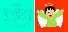 """Desenho colorido digitalmente por mim para a animação do DVD """"Uma Viagem no Tempo"""" da Fundação João Paulo Segundo"""