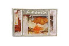 Antique Thanksgiving turkey postcard  Thanksgiving @wonderdiva #vintageephemera