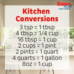 If you're on a baking kick, print this handy kitchen conversion sheet to help make kitchen measurement conversions easy! #CookingTip