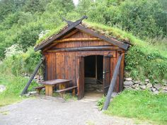 Voice of Nature — thedeerandtheoak: Viking blacksmith shop Blacksmith Shop, Blacksmith Projects, Vikings, Viking House, Viking Age, Living Roofs, Iron Work, Cabins In The Woods, Bushcraft