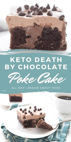 Triple chocolate for the win! Delicious keto chocolate cake with a rich sugar-free chocolate filling and a chocolate whipped cream topping. Divine! Low Carb Deserts, Low Carb Sweets, Sweet Recipes, Cake Recipes, Dessert Recipes, Keto Chocolate Cake, Chocolate Filling, Ketogenic Desserts, Healthy Desserts