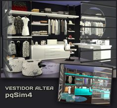 Sims 4 CC's - The Best: Altea Dressing Set by pqsim4