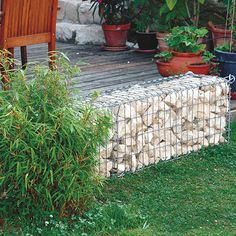 Bellissa spirale aromatique en gabion jardin for Castorama gabion