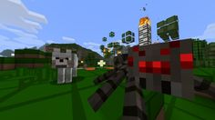 minecraft  wolf and  spider Minecraft Wolf, Minecraft Ideas, Carrots And Potatoes, Texture Packs, Cake Images, New Builds, Best Games, Spider, Lego