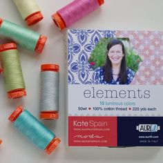 """@katespain on IG: Sorry to be a broken record, but I'm so excited about partnering with #aurifil to bring you my new thread collection, """"elements""""! Available soon! @alexveronelli @gogokim"""