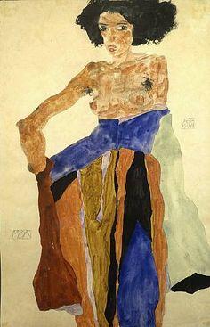 Egon Schiele Une femme africaine ? Des traits abusif qui me font penser a l'escalavage.