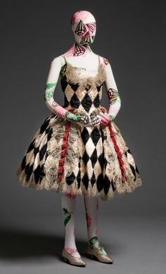 Harlequin Costume by Eaves, Schneider & Blythe, Inc.(1930's)~Image ©  Philadelphia Museum of Art