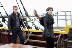 Josh Dallas (David Nolan/ Prince Charming) & Ginnifer Goodwin (Mary Margaret/ Snow White) in Once Upon a Time - February Once Upon A Time, Josh Dallas, Mary Margaret, Love Connection, Storybook Characters, Jolly Roger, Tv Episodes, New Love, Big Bang Theory