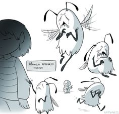Halfway through your first word, Whimsun bursts into tears and runs away.As much as I love all the monsters in Undertale, Whimsun is the one I identify with the most. Hang in there, you tiny ball of anxiety you. - credit to rattyarts.tumblr.com
