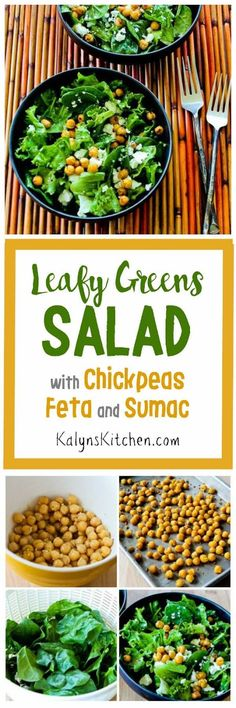 I love the citrusy flavor of Sumac, and it's delicious in this Leafy Greens Salad with Chickpeas, Feta, and Sumac Dressing. This is a great meatless lunch or tasty side dish for dinner. [found on KalynsKitchen.com]: