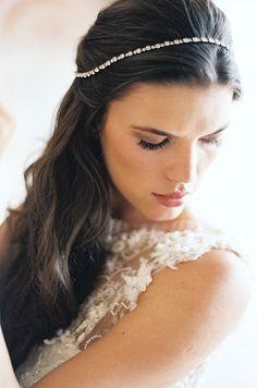 Chic updo for a long hair bride. Sareh Nouri 2014, Lauragordon Photography