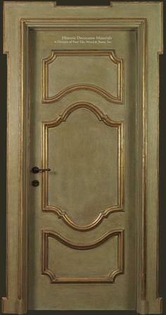 Artigianato Italiano Master Crafted Painted Italian Wood Doors - Oliva - Historic Decorative Materials, a division of Pavé Tile, Wood & Stone, Inc. Decor, Doors, Painted Doors, Wood Doors, Door Design, Sliding Glass Door, Home Decor, Wood Door Paint, Doors Interior