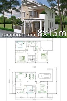 Duplex House Plans, House Layout Plans, Dream House Plans, House Layouts, House Floor Plans, 2 Storey House Design, Bungalow House Design, Small House Design, Modern House Design