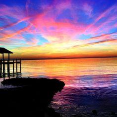 Newport News, Virginia sunset.