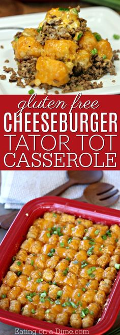 Try this easy Cheeseburger Tator Tot Casserole Recipe. An Easy Tator tot Casserole recipe that is loaded with cheese and packed with flavor. An easy summer dinner for the whole family! Easy Casserole Recipes, Casserole Dishes, Cheeseburger Tater Tot Casserole, Runza Casserole, Brocolli Casserole, Stuffing Casserole, Hamburger Casserole, Vegetable Casserole, Cheeseburgers