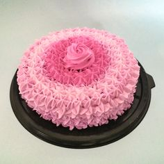 Gradient pink cake