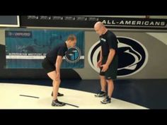 Cael Sanderson showing his Inside Single with Ricky Lundell