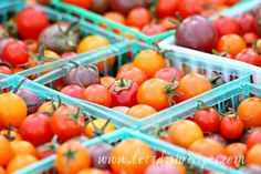 Tomato Basil Vinaigrette (Market Monday) (Let's Dish Recipes) Pickled Tomatoes, Pickled Cherries, Cherry Tomato Recipes, A Food, Food And Drink, Keto Sauces, Tomato Basil, Cherry Tomatoes, Vinaigrette