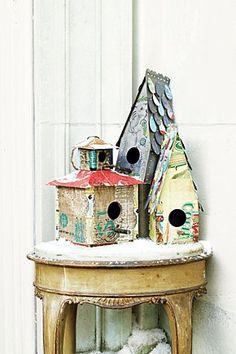 artsy birdhouses \ barkwood: birdhouses